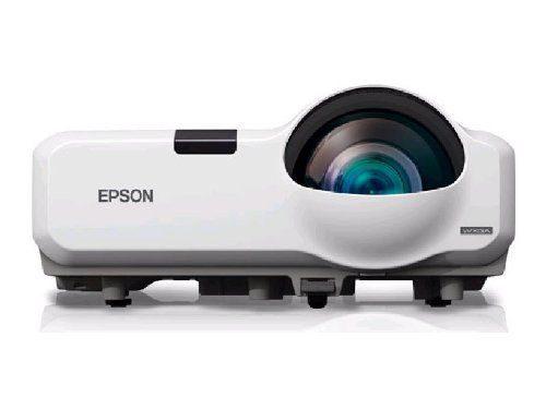 Epson PowerLite 435W WXGA 3LCD Short Throw Projector 3000 Lumens HDMI best short throw projector